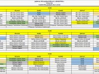 Contoh Jadwal Pelajaran Kurikulum 2013 dan KTSP Gabungan 2017/2018