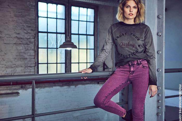 Moda urbana invierno 2019 ropa de mujer.