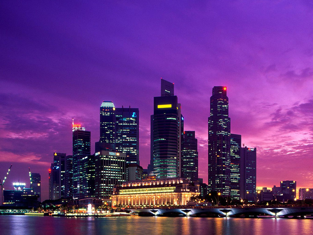Foto Foto Pemandangan Kota Singapura Di Malam Hari Wallpaper202