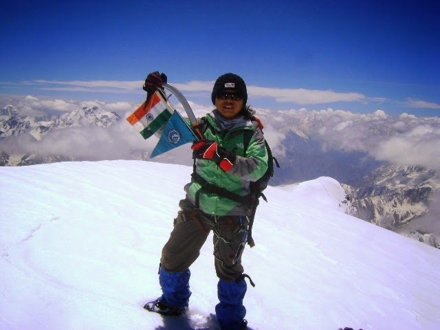 Sikkim NOW!: Sikkim mountaineer in IMF's all Women Expedition to Mt.  Menthosa