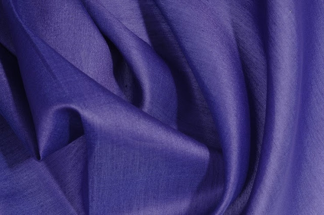 Imperial Purple Cotton Silk Fabric