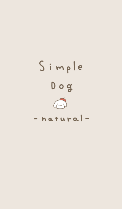 simple white dog natural