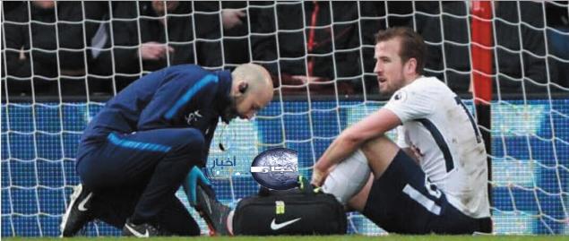 إصابة هاري كين في مباراة بورنموث وموعد عودة للملاعب وحقيقة مشاركتة في كأس العالم 2018