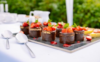 Wallpaper: Food Dessert Strawberry Chocolate