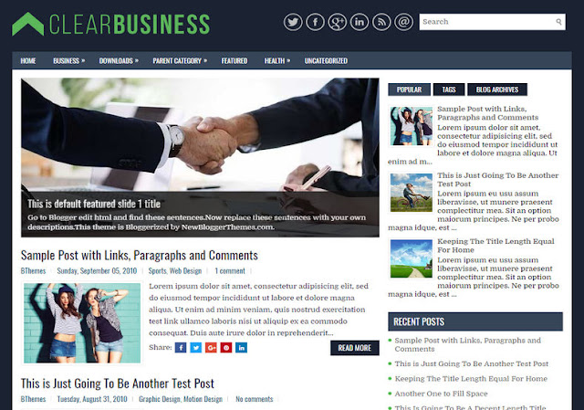 Clear business blogger template aridjaya template there are another 4 slide codes you have to configure like this accmission Gallery