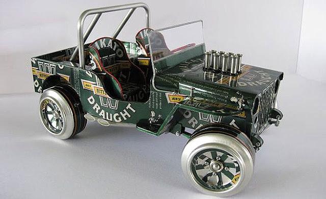 Yohanes Chandra Ekajaya Membuat Mobil Mainan