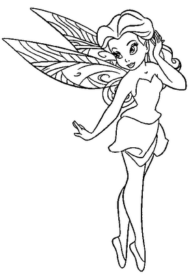 Disney fairs coloring pages ~ 4 Printable Disney Fairies Rosetta Coloring Sheet