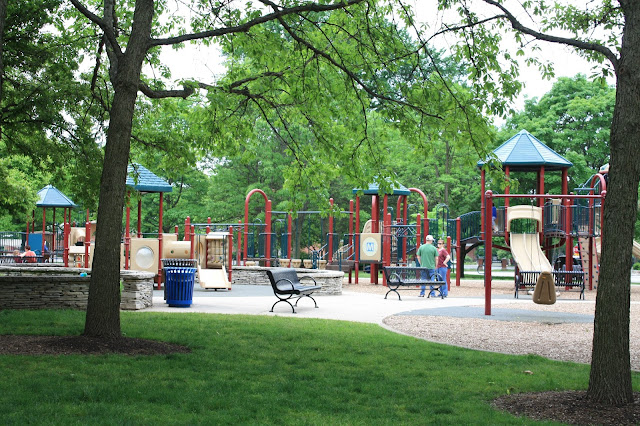Slides, swings and more at Village Green, Northbrook