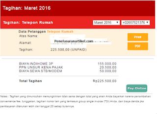 Cara Mudah Cek Tagihan Pembayaran Bulanan Indihome Telkom Via Online