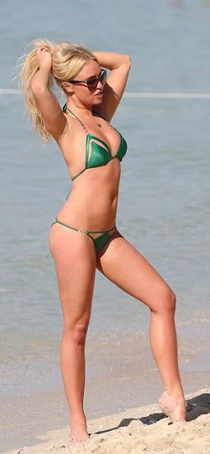 Jorgie Porter in Green Bikini in Dubai