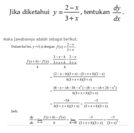 Rumus Dan Contoh Soal Matematika Contoh Soal Dan Materi Differensial Turunan