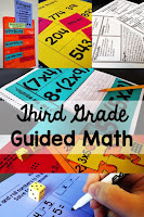 Third Grade Guided Math lesson plans, centers, assessments, and more. Everything you need to run small group math in your 3rd grade classroom!