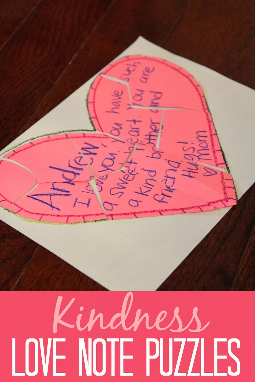 Toddler Approved Kindness Love Note Puzzles For Kids