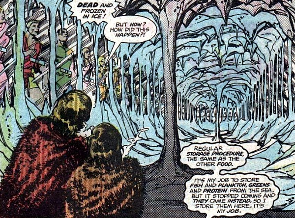 Logan's Run #4, dead and frozen