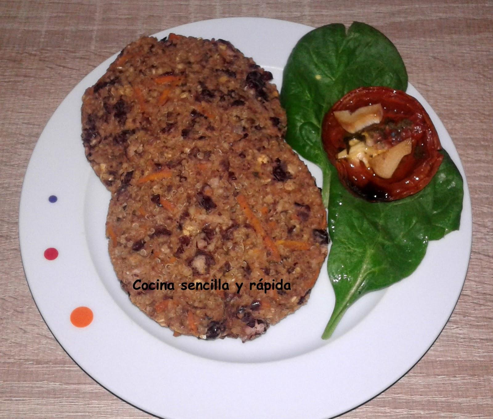 Cocina sencilla y r pida hamburguesas de quinoa avena y for Cocina rapida y sencilla