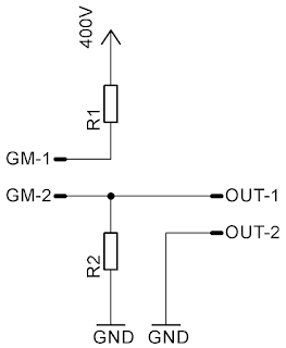 Homemade Geiger–Müller simplified circuit