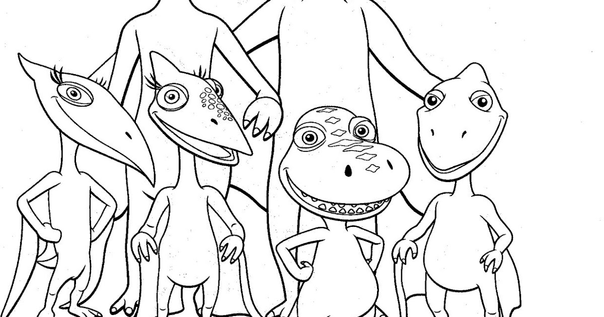 ColorMeCrazy.org: Dinosaur Train Coloring Pages