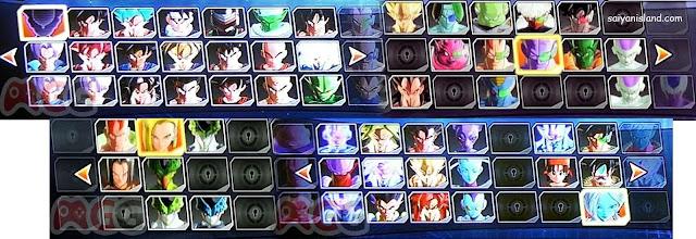 O game pode contar com até 90 lutadores da saga, incluindo personagens da série Dragon Ball Super.