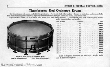 Nokes & Nicolai American Drummer No. 6, ca. 1918