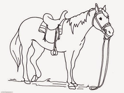 Horse Coloring Pages Easy For Kids Printable Coloring Animal For Kids