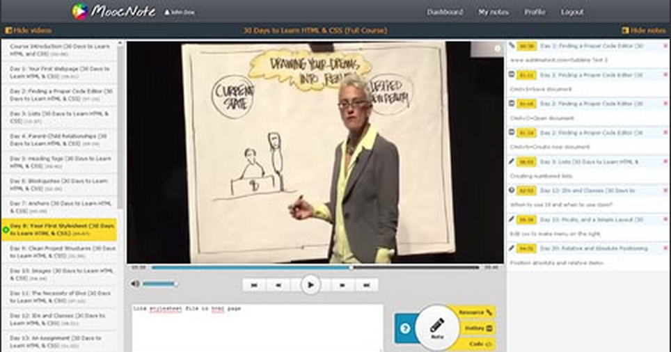 A Good Video Annotating Tool for Teachers and Students