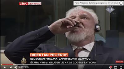 ŠOK U HAGHU  !!!!!      Nakon izricanja presude Praljak popio otrov?!