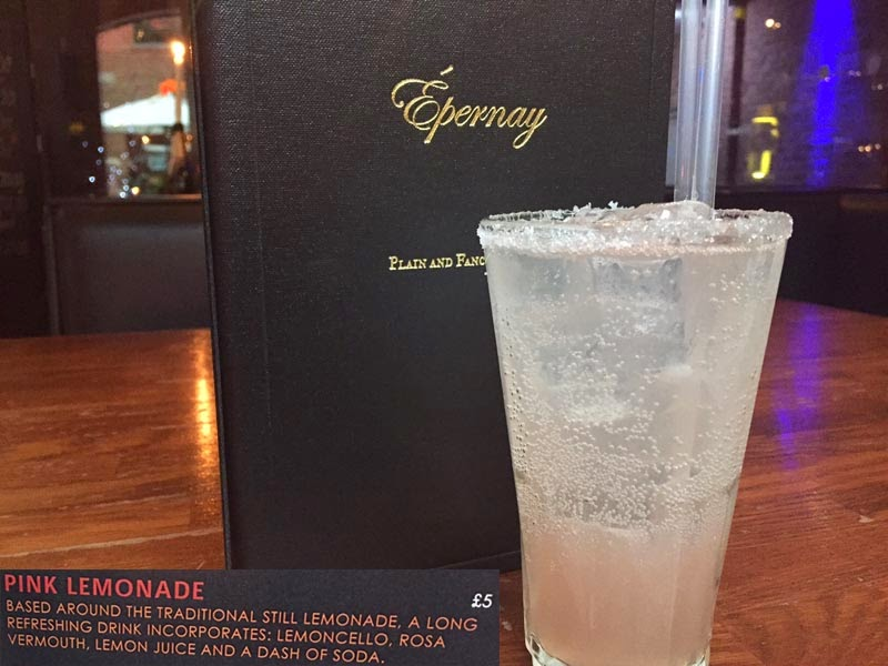 Epernay Leeds New Cocktail Menu