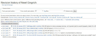 newt gingrich wikipedia page changed