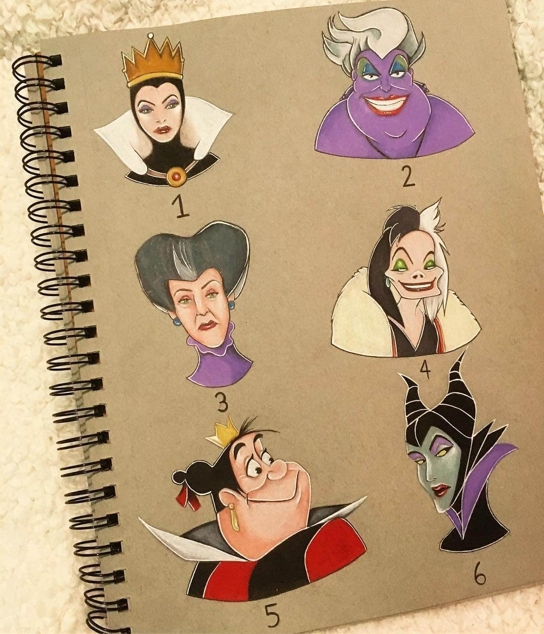 04-Ursula-Malificent-Cruella-Devil-Tabitha-Cartoon-and-Animation-Characters-in-Drawings-www-designstack-co