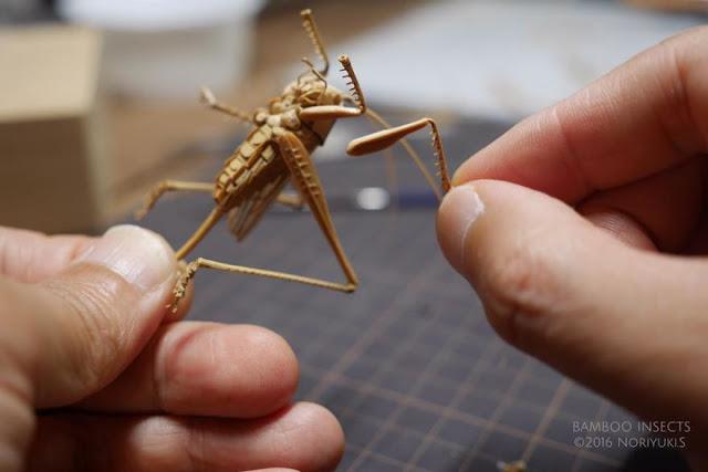 Kreasi Unik, Serangga Terbuat Dari Bambu