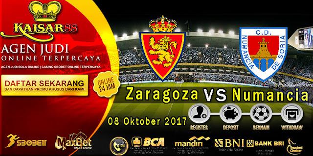Prediksi Bola terpercaya liga Romareda Zaragoza vs Numancia 09 October 2017