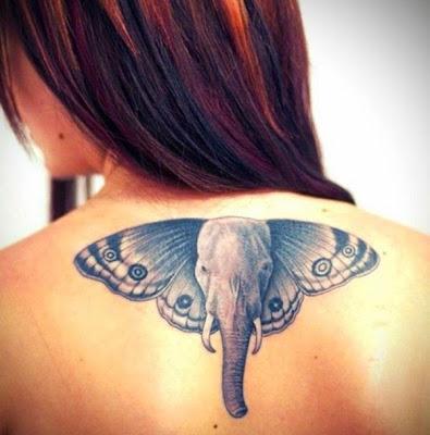 tattoo ideas elefante con alas de mariposa