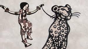 dipinto donna leopardo