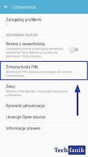 Samsung Tryb Dziecko Zmiana Kodu PIN