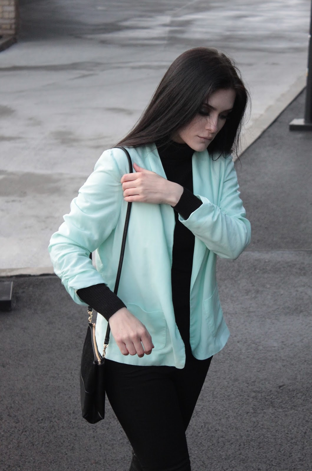 mint jacket l miętowa marynarka l minimal look