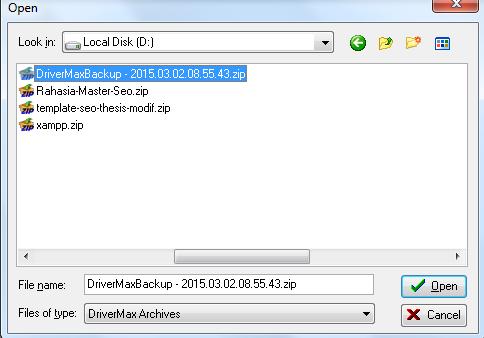 Backup dan Restore Driver Dengan Software Driver Max