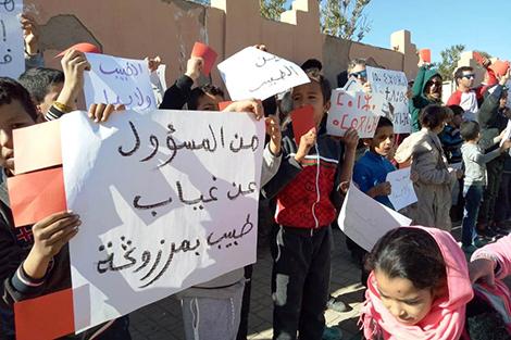 """""""غياب طبيب"""" يخرج سكانا إلى الاحتجاج بمرزوكة"""