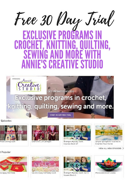 Learn how to get a 30 day free trial to Annie's Creative Studio