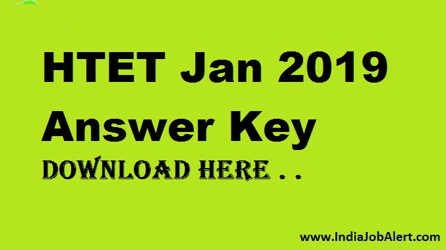 HTET January 2019 || Official Answer Key