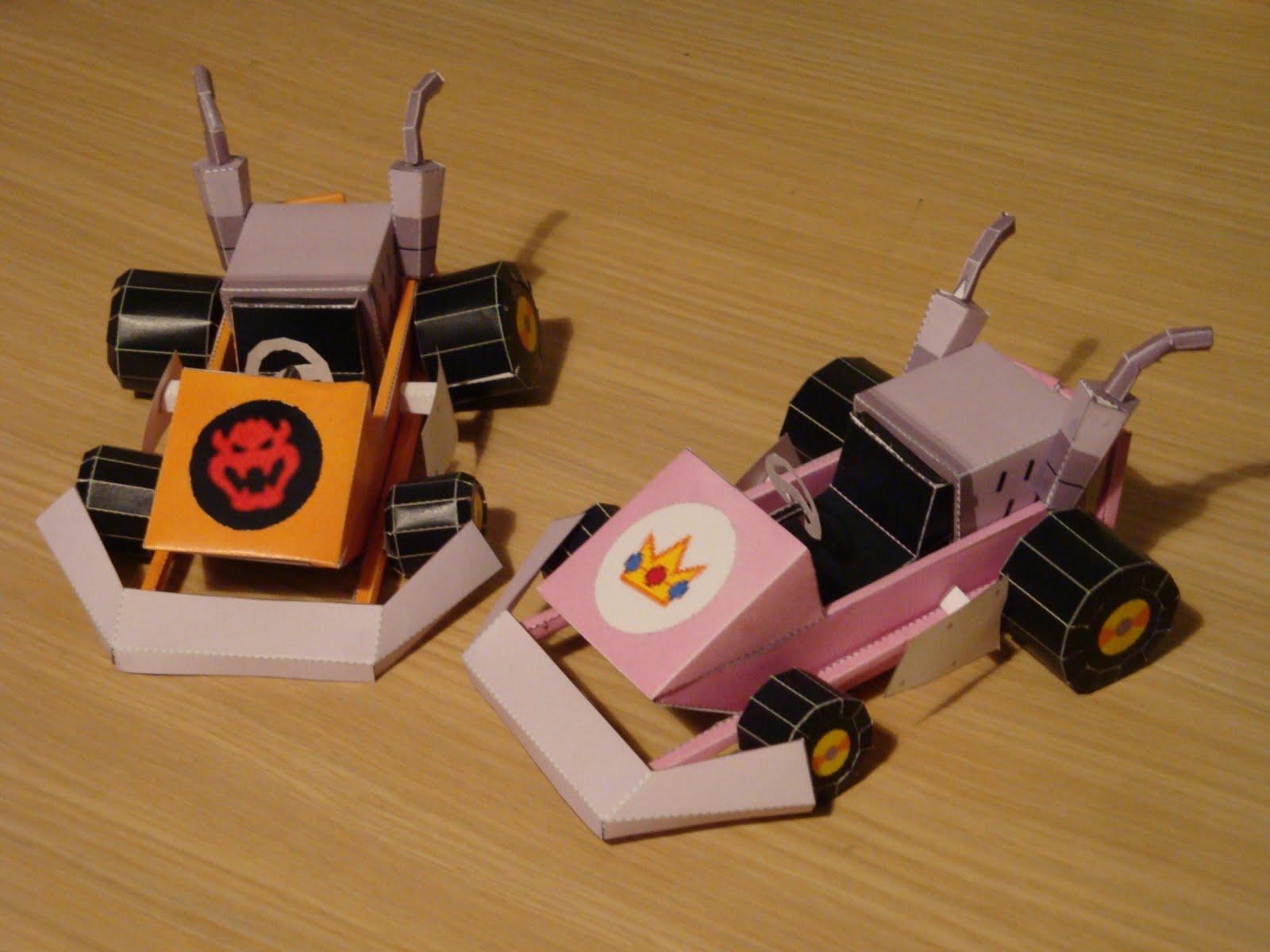 Mario Kart Papercraft: Bowser And Peach Kart | Papercraft ... - photo#21