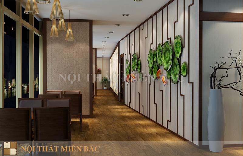 Thiết kế nội thất nhà hàng Nhật phong cách hiện đại