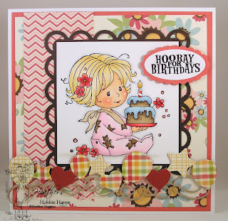 Heather's Hobbie Haven -  Birthday Baby Girl Card Kit