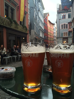 Chopfab beer in Altstadt Zurich, Sleachmour Adventures