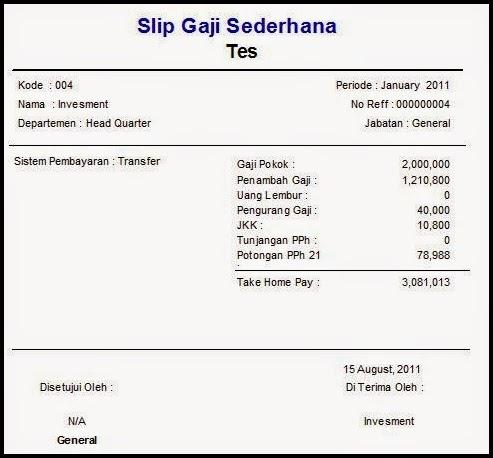 contoh slip gaji bulanan swasta di malaysia