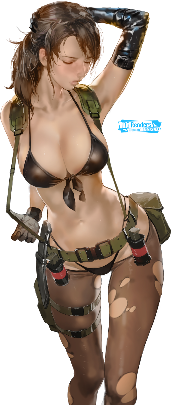 Tags: Anime, Render,  Armpit,  Metal Gear Solid,  Quiet,  PNG, Image, Picture