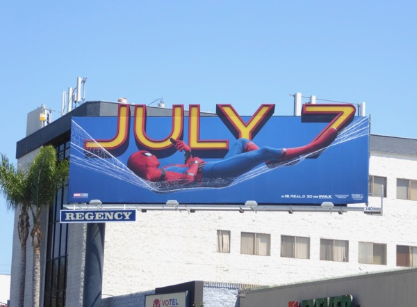 Spiderman Homecoming web hammock billboard