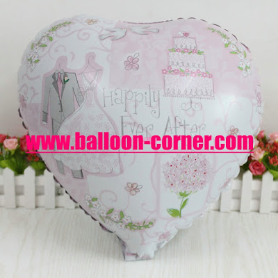 Balon Foil Hati Happily Ever After