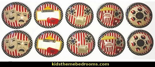Movie Theatre Dresser and Cabinet Drawer Knobs cabinet knobs movie theater