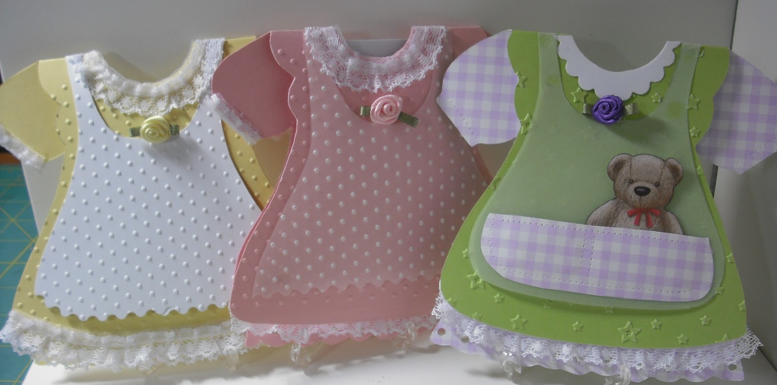Carole Screativecritters Baby Girl Dress Cards
