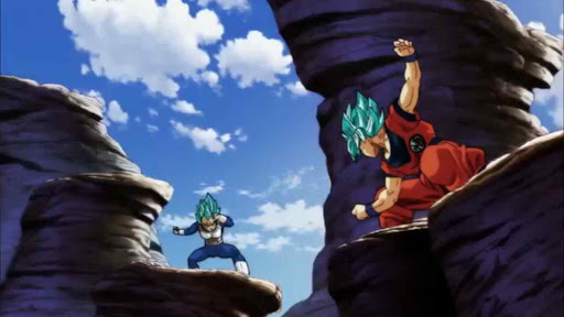 Goku and Vegeta in their trademark pose
